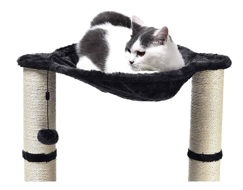 Get a Cat Tree With a Hammock for Cats That Like to Snuggle High up