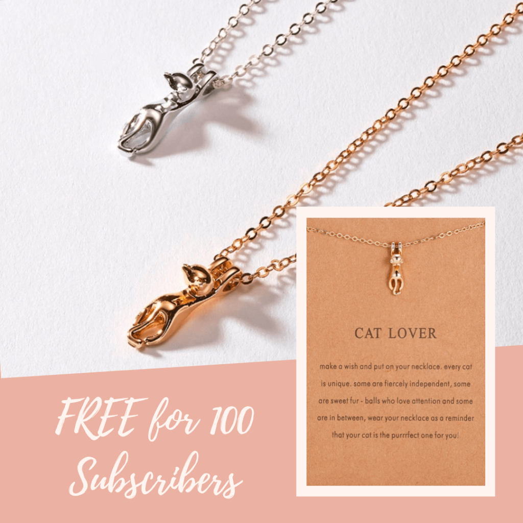cat necklace give away