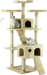 Go Pet Club 72″ Tall Cat Tree With 3 Perches