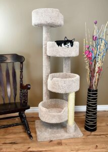 4 perch cat tree for large cats