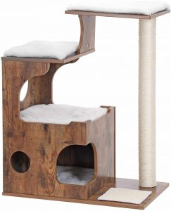 Feandrea Retro Cat Tower – Modern Cat Tree