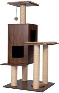 Good Life Modern Deluxe Wooden Cat Tree
