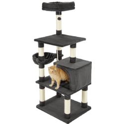 Frisco 59-in Faux Fur Cat Tree & Condo